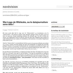 War-logs de WikiLeaks, ou le datajournalism sans data !