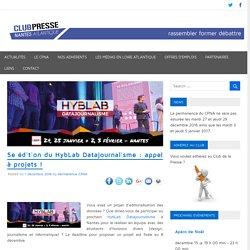 5e édition du HybLab Datajournalisme : appel à projets ! - Club de la Presse Nantes Atlantique