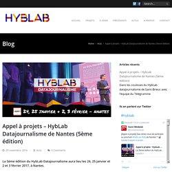 Appel à projets - HybLab Datajournalisme de Nantes (5ème édition) - Hyblab ouestmedialab