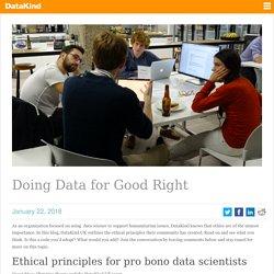Doing Data for Good Right