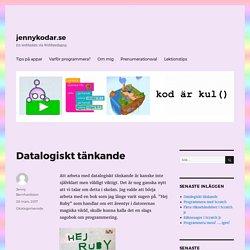 Datalogiskt tänkande – jennykodar.se