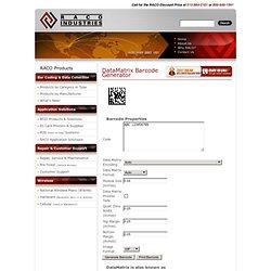DataMatrix 2D Barcode Generator – The Free Bar Code Creator