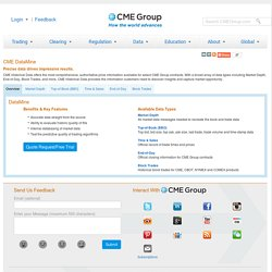 CME DataMine - Historical Market Data on select CME Group contracts
