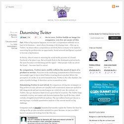 Datamining Twitter