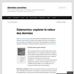 Datanomics: explorer la valeur des données