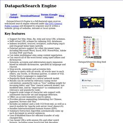 DataparkSearch Engine - an open source search engine