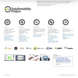 DataPortability.org - Share and remix data using open standards