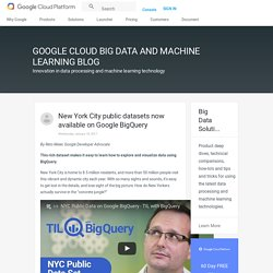 New York City public datasets now available on Google BigQuery