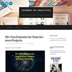 50+ free Datasets for Data Science Projects