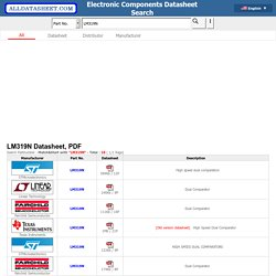 LM319N datasheet, LM319N datasheets, LM319N datenblatt, LM319N manual, LM319N data sheets, LM319N pdf - ALLDATASHEET.COM