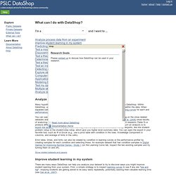 DataShop > Research Goals