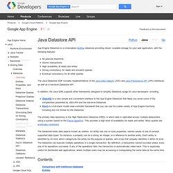 Storing Data - Google App Engine