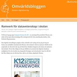 Ramverk för datavetenskap i skolan – Omvärldsbloggen