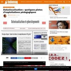 Datavisualisation : quelques pistes d'exploitations pédagogiques