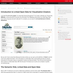 Introduction to Linked Open Data for Visualization Creators on Datavisualization