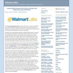 Retail + Social + Mobile = @WalmartLabs