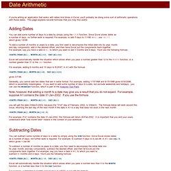 Date Arithmetic