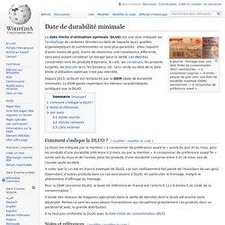 Date de durabilité minimale