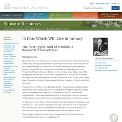 'A Date Which Will Live in Infamy'