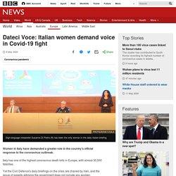 Dateci Voce: Italian women demand voice in Covid-19 fight