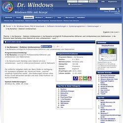 Download 1-4a Rename - Dateien Umbenennen - V V 1.56.0 - Freeware - Dateimanager