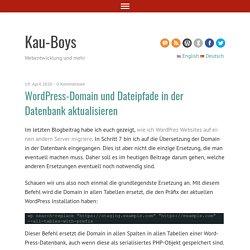WordPress-Domain und Dateipfade in der Datenbank aktualisieren - Kau-BoysKau-Boys