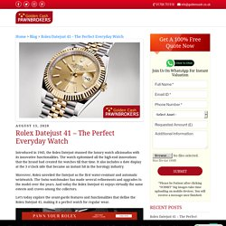 Rolex Datejust 41 – The Perfect Everyday Watch