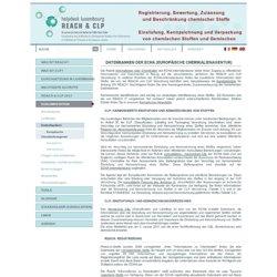 Datenbanken ECHA / REACH
