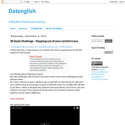 Datenglish: 30 Goals Challenge - Stepping out of your comfort zone