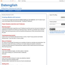 Datenglish: Creating eBooks with learners