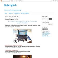 Datenglish: My teaching survival kit