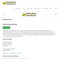 Datenschutz - Datenschutz-Generator.de - Generator für DSGVO-Datenschutzerklärung, Impressum, Teilnahmebedingungen