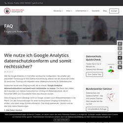 Google Analytics datenschutzkonform einrichten