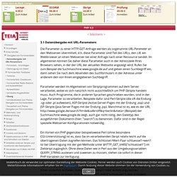 PHP 4.3 - Datenübergabe mit URL-Parametern - TEIA AG