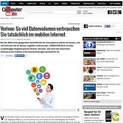 Verivox: So viel Datenvolumen verbrauchen Sie im mobilen Internet