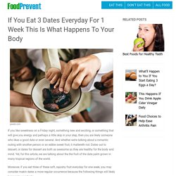 If You Eat 3 Dates Everyday For 1 Week This Is What Happens To Your Body – Food Prevent