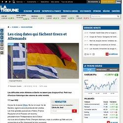 Les cinq dates qui fâchent Grecs et Allemands