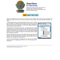 DateTree - Organize your files by date - EXIF Aware