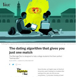"""Dating apps are awful. But this algorithm offers just one match: your """"backup plan."""""""