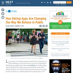 How Dating Apps Are Changing the Way We Behave in Public