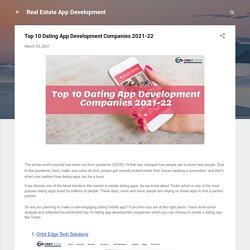Top 10 Dating App Development Companies 2021-22