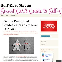 Dating emotional predators signs to look out for