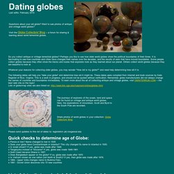 Dating World Globes: How old is my globe?