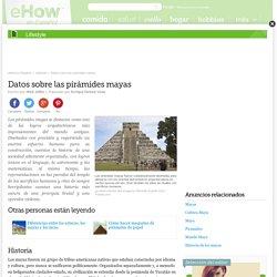 Datos sobre las pirámides mayas