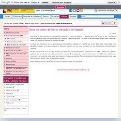 Libro > Bases de datos del ISBN > Base de datos de libros