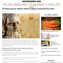 15 datos que no sabías sobre el genio Leonardo Da Vinci