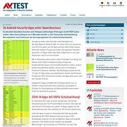 Vergleichstests von Antiviren-Software für Windows und Testberichte von Anti-Malware-Apps für Android