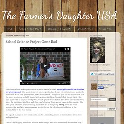 The Farmer's Daughter USA: School Science Project Gone Bad