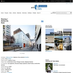 Daunay / Atelier du Pont