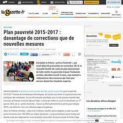 Plan pauvreté 2015-2017 : davantage de corrections que de nouvelles mesures